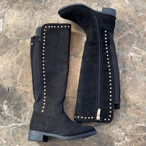 Sam Edelman Pia studded suede boots girls NWOB